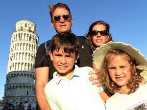 PISA CON LA FAMILIA TORRE DE PISA