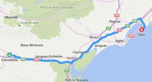 ruta de Carcassonne a Séte
