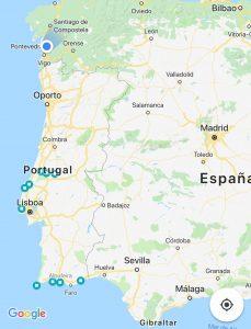 ruta hasta el Algarve en autocaravana