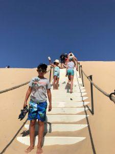 escaleras de la duna de Pilat