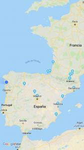 ruta hasta las Landas y la Marina