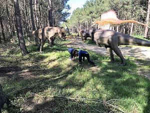 pelea de Dinosaurios en el parque de Lourinhâ