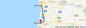 distancia de Oporto a Aveiro